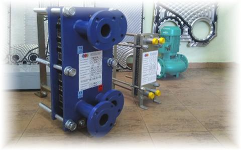 Разборные пластинчатые теплообменники GTE собственного производства для отопления и ГВС