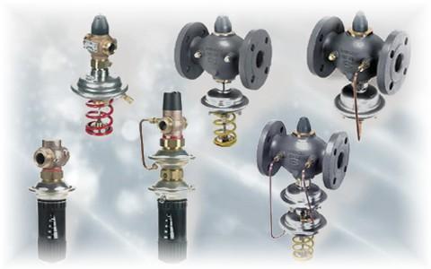 Автоматические регуляторы давления, расхода, температуры производства Danfoss