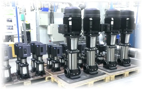 Вертикальные многоступенчатые центробежные насосы Grundfos серии CR